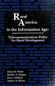 Cover of: Rural America in the information age |