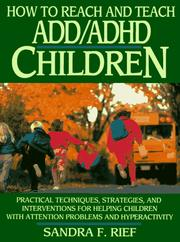 Cover of: How to reach and teach ADD/ADHD children