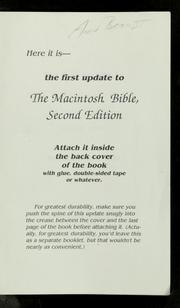 Cover of: The first update to the Macintosh bible