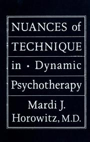 Cover of: Nuances of technique in dynamic psychotherapy