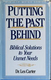 Cover of: Putting the past behind