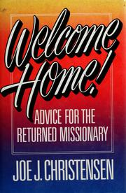 Cover of: Welcome home!