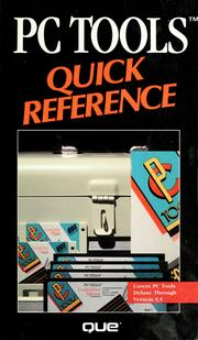 Cover of: PC tools quick reference | George Sheldon