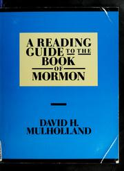 Cover of: Reading Guide to the Book of Mormon | David H. Mulholland