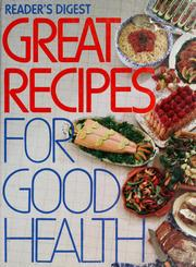 Cover of: Great recipes for good health | Reader