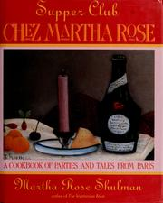 Cover of: Supper club Chez Martha Rose