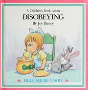 Cover of: A children's book about disobeying