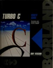 Cover of: Turbo C |