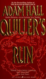 Cover of: Quiller's Run