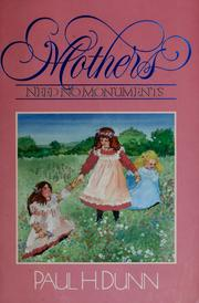 Cover of: Mothers need no monuments