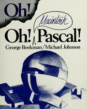 Cover of: Oh! Macintosh Pascal!