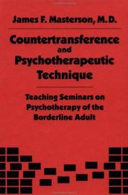 Cover of: Countertransference and Psychotherapeutic Technique | M.D. Masterson