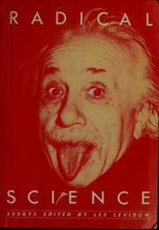 Cover of: Radical science essays |