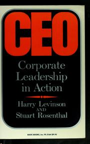 Cover of: Ceo | Levinson Harry