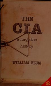 Cover of: The CIA, a forgotten history