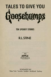 Cover of: Ten spooky stories | R. L. Stine