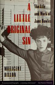 Cover of: A little original sin | Millicent Dillon