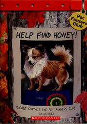 Cover of: Help Find Honey (Pet Finders Club #10) |
