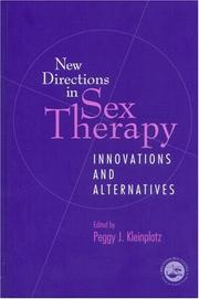 Cover of: New Directions in Sex Therapy | P. Kleinplatz