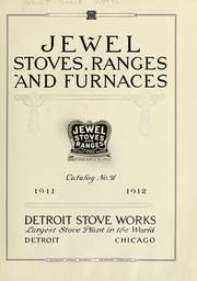 Cover of: Jewel stoves, ranges, and furnaces. | Detroit Stove Works.