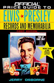 Cover of: Official Price Guide to Elvis Presley Records and Memorabilia