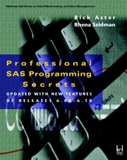 Cover of: Professional SAS programming secrets | Rick Aster