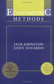 Econometric methods by Johnston, J.