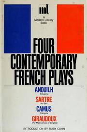 Cover of: Four contemporary French plays. | Ruby Cohn