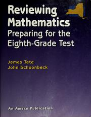 Cover of: Reviewing mathematics | James Tate