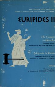 Cover of: Euripides II | Euripides
