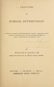 Cover of: Chapters on school supervision | William H[arold] Payne