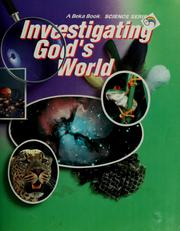 Cover of: Investigating God's world