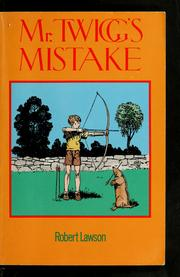 Cover of: Mr. Twigg's mistake
