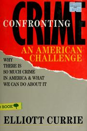 Cover of: Confronting crime