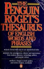 Cover of: The Penguin Roget's Thesaurus of English words and phrases