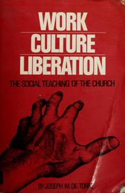 Cover of: Work, culture, liberation | Joseph M. de Torre