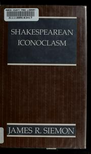 Cover of: Shakespearean iconoclasm
