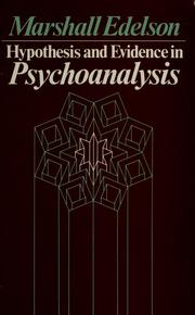 Hypothesis and Evidence in Psychoanalysis