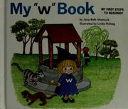 "Cover of: My ""w"" book"