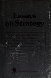 Cover of: Essays on strategy |