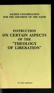 "Cover of: Instruction on certain aspects of the ""Theology of liberation"" 