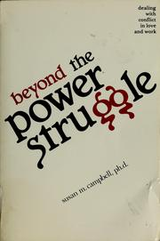 Cover of: Beyond the power struggle