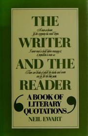 Cover of: The writer and the reader