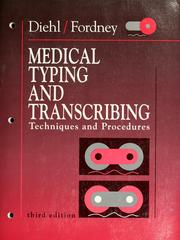 Cover of: Medical typing and transcribing