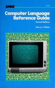 Cover of: Computer language reference guide | Harry L. Helms