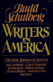 Cover of: Writers in America