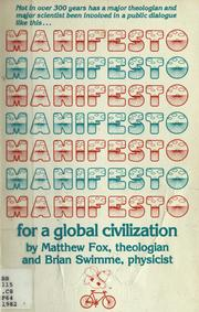 Cover of: Manifesto for a global civilization