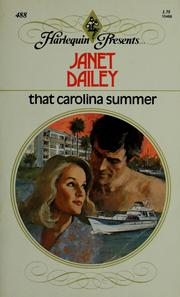 Cover of: That Carolina Summer |