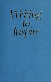 Cover of: Writing to inspire |