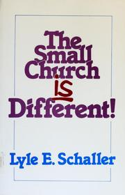 Cover of: The Small Church Is Different: Leader's Guide